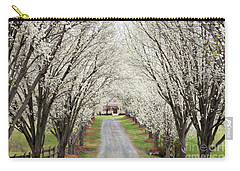 Carry-all Pouch featuring the photograph Pear Tree Lane by Benanne Stiens