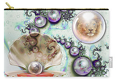 Carry-all Pouch featuring the digital art Pearl Of Great Price by Dolores Develde