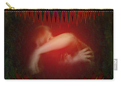 Carry-all Pouch featuring the digital art Pearl Of Love by Rosa Cobos