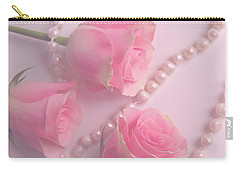 Pearls And Roses Carry-all Pouch
