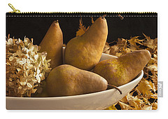 Pears And Hydrangea Still Life  Carry-all Pouch by Sandra Foster