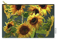 Pears And Sunflowers Carry-all Pouch