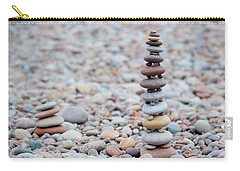 Pebble Stack II Carry-all Pouch by Helen Northcott