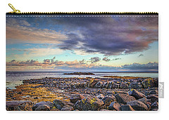 Carry-all Pouch featuring the photograph Pebbles And Sky  #h4 by Leif Sohlman