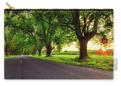 Pecan Alley Sunrise - Scott Arkansas - Landscape Carry-all Pouch by Jason Politte