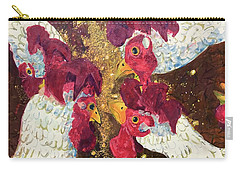 Carry-all Pouch featuring the painting Pecking Order by Jame Hayes