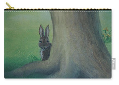 Peek A Boo Behind The Tree Carry-all Pouch