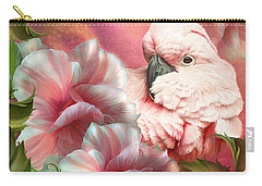 Peek A Boo Cockatoo Carry-all Pouch by Carol Cavalaris