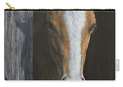Carry-all Pouch featuring the painting Peek A Boo by Kim Lockman