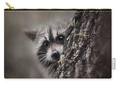 Peekaboo Raccoon Art Carry-all Pouch by Jai Johnson