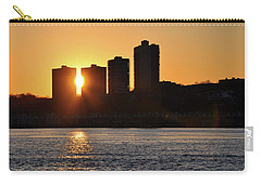 Carry-all Pouch featuring the photograph Peekaboo Sunset by Sarah McKoy