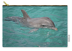 Carry-all Pouch featuring the photograph Peeking Dolphin by Melissa Lane