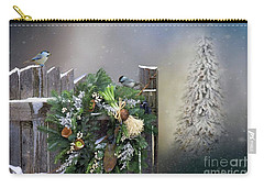 Peeking Through The Garden Gate Carry-all Pouch by Janette Boyd