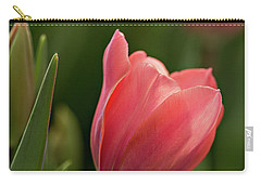 Carry-all Pouch featuring the photograph Peeking Tulip by Mary Jo Allen