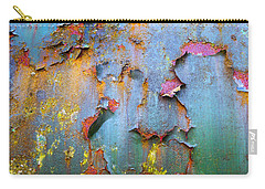Peeling Paint And Rust Textures 135 Carry-all Pouch