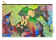 Peeling Paint Colors Carry-all Pouch by Todd Breitling