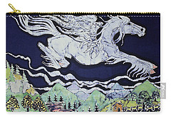 Pegasus Flying Over Stream Carry-all Pouch