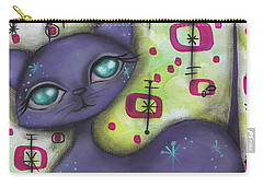 Peggy Cat Carry-all Pouch by Abril Andrade Griffith