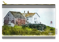Carry-all Pouch featuring the photograph Peggy's Cove Lighthouse Nova Scotia Canada by Betty Denise