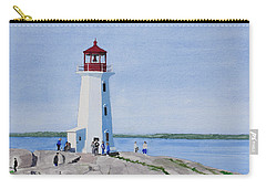 Peggy's Point Lighthouse Carry-all Pouch by Mike Robles