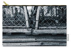 Carry-all Pouch featuring the photograph Pei Loberster Traps by Chris Bordeleau