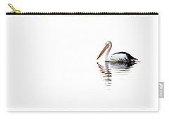 Carry-all Pouch featuring the photograph Pelican Adrift by Az Jackson