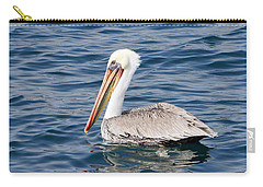 Carry-all Pouch featuring the pyrography Pelican At Sea by Shoal Hollingsworth
