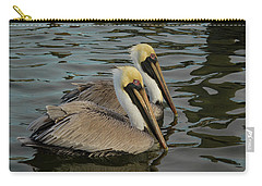 Carry-all Pouch featuring the photograph Pelican Duo by Jean Noren