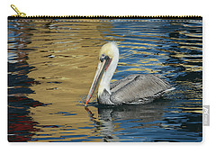 Pelican In Watercolors Carry-all Pouch by Fraida Gutovich