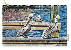 Carry-all Pouch featuring the photograph Pelican Motel by Bob Slitzan