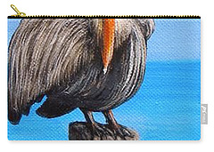Pelican On Pier Carry-all Pouch
