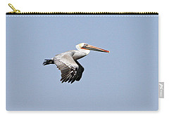 Carry-all Pouch featuring the pyrography Pelican On The Wing by Shoal Hollingsworth
