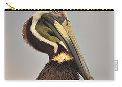 Pelican Portrait Carry-all Pouch by Nancy Landry