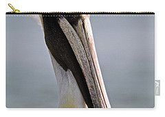 Pelican Portrait Carry-all Pouch by Sally Weigand