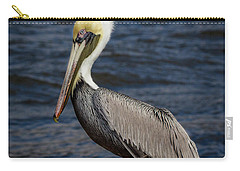 Carry-all Pouch featuring the photograph Pelican Profile 2 by Jean Noren