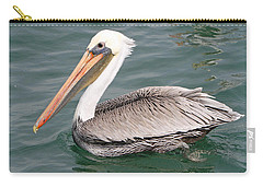 Carry-all Pouch featuring the pyrography Pelican Profile by Shoal Hollingsworth
