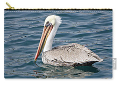 Carry-all Pouch featuring the pyrography Pelican by Shoal Hollingsworth