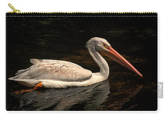Pelican Swimming In Salisbury Carry-all Pouch