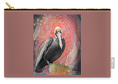Pelican With Red Carry-all Pouch