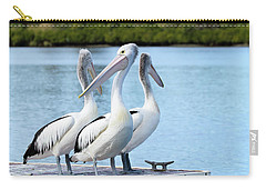 Carry-all Pouch featuring the photograph Pelicans 6663. by Kevin Chippindall