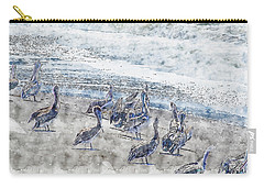 Carry-all Pouch featuring the digital art Pelicans by Anthony Murphy
