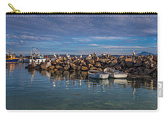 Pelicans At Eden Wharf Carry-all Pouch by Racheal  Christian