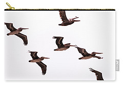 Carry-all Pouch featuring the photograph Pelicans At Half Moon Bay by Steven Richman