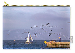 Carry-all Pouch featuring the photograph Pelicans Pelicans by Kate Brown