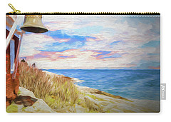 Pemaquid Lighthouse Bell On Maine Rocky Coast. Carry-all Pouch