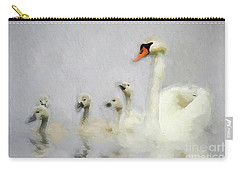 Pen And Her Cygnets Carry-all Pouch