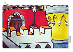 Carry-all Pouch featuring the painting Pena Palace In Sintra Portugal  by Dora Hathazi Mendes