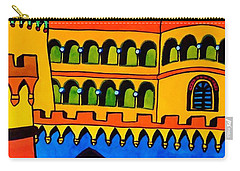 Carry-all Pouch featuring the painting Pena Palace Portugal by Dora Hathazi Mendes