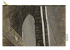 Pencil Sketch Of The Brooklyn Bridge Carry-all Pouch