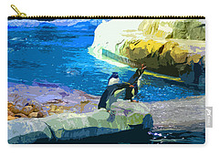 Penguins At The Zoo Carry-all Pouch